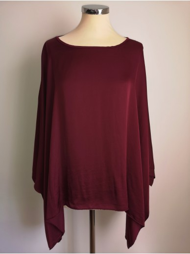 STARS Collection Batwing Top Damen Bordeaux