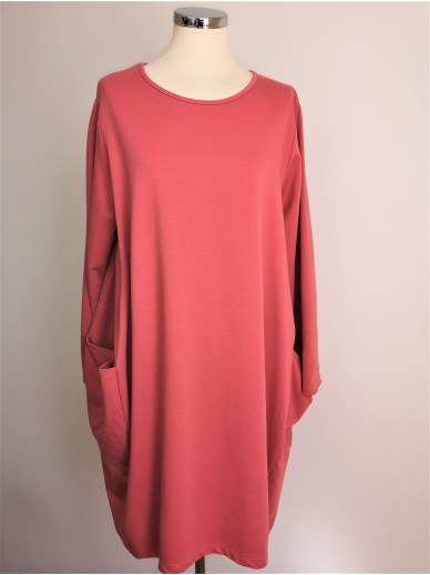 MyStyle Pocket Dress Coral