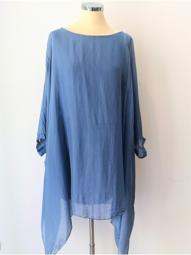 STARS Collection Seidenkleid Denim